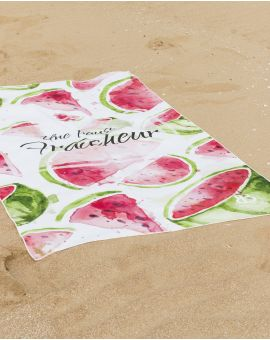 Drap de plage - Anuanua - Pastèque - 180x100 cm