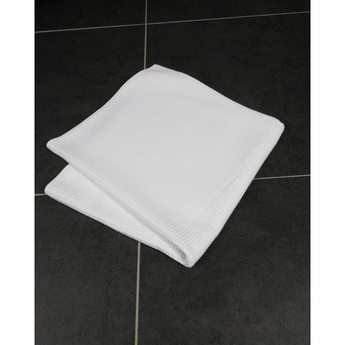 drap de douche blanc en microfibre taimiti espace bain. Black Bedroom Furniture Sets. Home Design Ideas