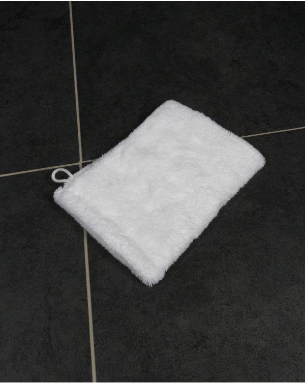 Blue Bubble - Gant de toilette - Ultra Doux - Blanc - Microfibre