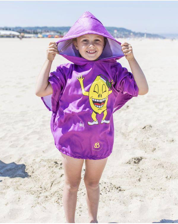 """Poncho de plage enfant - Heiata - """"Pas un zeste"""" - 120x60 cm"""