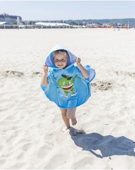 """Poncho de plage enfant - Heiata - """"Haut comme 3 pommes"""" - 120x60 cm"""