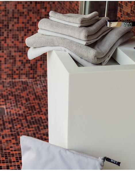 Serviette de toilette - Vaianu - Perle - 90x45 cm