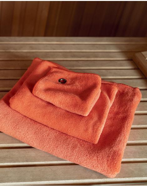 serviette mains visage microfibre vaianu orange volcan bodynamic. Black Bedroom Furniture Sets. Home Design Ideas