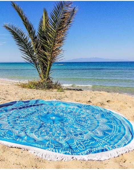 Serviette ronde microfibre - La Grecque