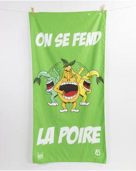 """Drap de plage - Heiata - """"On se fend la poire"""" - 140x70 cm"""