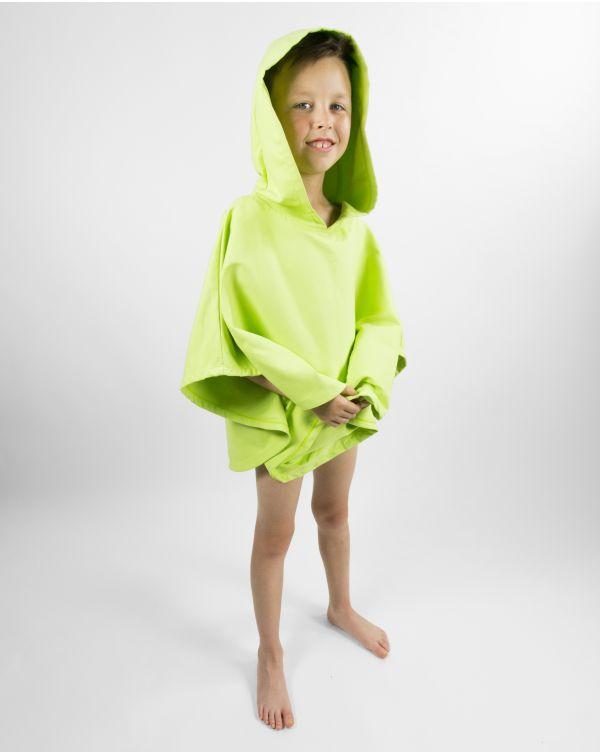 Poncho de plage enfant - Heiata - Lime - 120x60 cm