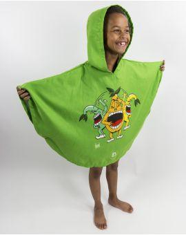 """Poncho de plage enfant - Heiata - """"On se fend la poire"""" - 120x60 cm"""