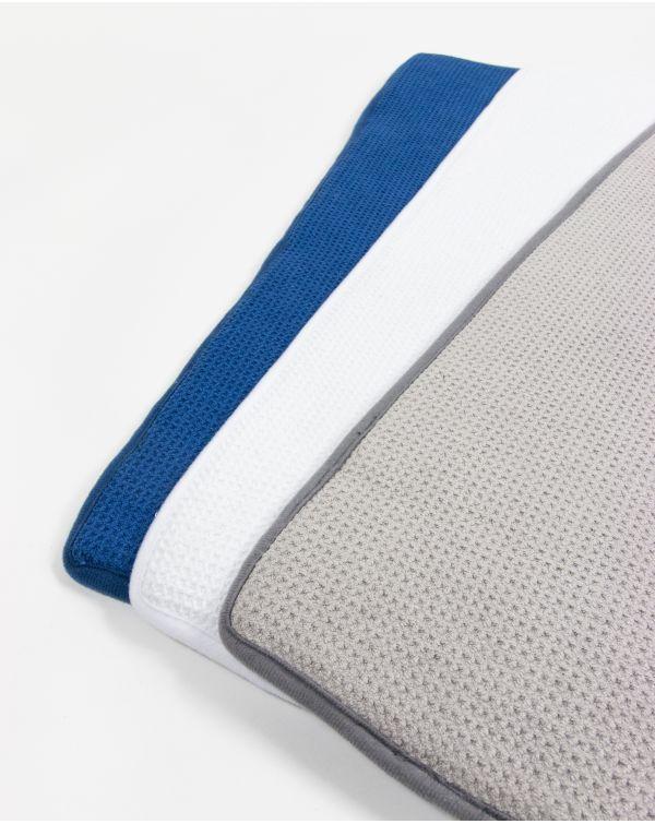 Blue Bubble - Tapis de bain - Mémoire de forme - Blanc - Microfibre